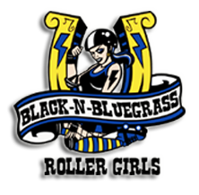 Black-n-Bluegrass Roller Girls team logo