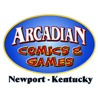 Arcadian Comics and Games logo